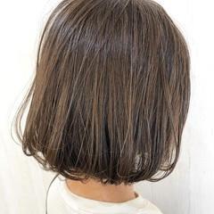 ナチュラル イルミナカラー ミニボブ ボブ ヘアスタイルや髪型の写真・画像