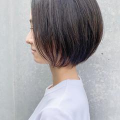 ナチュラル 大人ショート ショートボブ ショートヘア ヘアスタイルや髪型の写真・画像