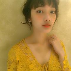 簡単ヘアアレンジ 大人かわいい 外ハネ ゆるふわ ヘアスタイルや髪型の写真・画像