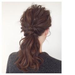 ショート ゆるふわ ミディアム ヘアアレンジ ヘアスタイルや髪型の写真・画像