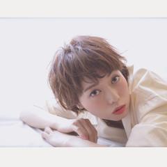 外国人風 グラデーションカラー ショート 大人かわいい ヘアスタイルや髪型の写真・画像