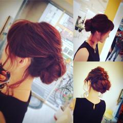 アップスタイル ルーズ ナチュラル ヘアアレンジ ヘアスタイルや髪型の写真・画像