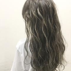 暗髪 アッシュ ストリート ヘアアレンジ ヘアスタイルや髪型の写真・画像