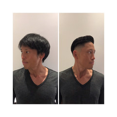ツーブロック スキンフェード ショート ストリート ヘアスタイルや髪型の写真・画像
