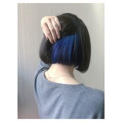 ミディアム ブルー ガーリー ブルージュ ヘアスタイルや髪型の写真・画像