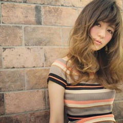 アッシュ 大人かわいい ハイライト ストリート ヘアスタイルや髪型の写真・画像