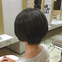 ショート 秋 ナチュラル アッシュ ヘアスタイルや髪型の写真・画像