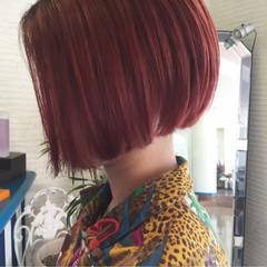 ボブ カッパー 秋 レッド ヘアスタイルや髪型の写真・画像