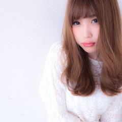 セミロング 大人女子 かわいい ナチュラル ヘアスタイルや髪型の写真・画像