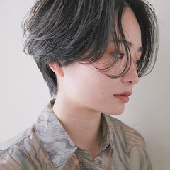 ハンサムショート ショート ミニボブ ショートヘア ヘアスタイルや髪型の写真・画像