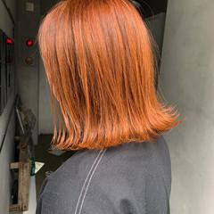 切りっぱなし ボブ 切りっぱなしボブ ストリート ヘアスタイルや髪型の写真・画像