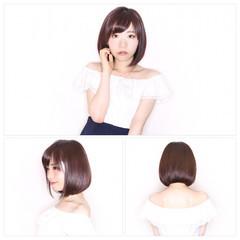 ワンカール 暗髪 透明感 ナチュラル ヘアスタイルや髪型の写真・画像