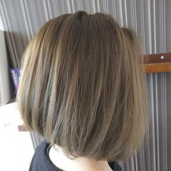 マット ナチュラル ボブ グラデーションカラー ヘアスタイルや髪型の写真・画像