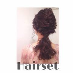 ヘアアレンジ ルーズ セミロング ストリート ヘアスタイルや髪型の写真・画像
