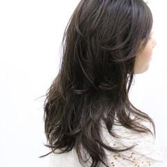 大人かわいい コンサバ ロング 暗髪 ヘアスタイルや髪型の写真・画像