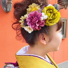 ナチュラル 和装 ヘアセット ロング ヘアスタイルや髪型の写真・画像