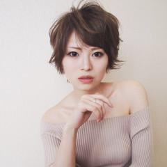 フェミニン 外国人風 ショート 大人女子 ヘアスタイルや髪型の写真・画像