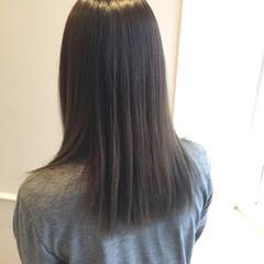 暗髪 コンサバ グレージュ セミロング ヘアスタイルや髪型の写真・画像