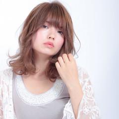 色気 ミディアム 秋 パーマ ヘアスタイルや髪型の写真・画像