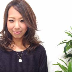 黒髪 ミディアム コンサバ モテ髪 ヘアスタイルや髪型の写真・画像