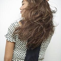 ハイライト セミロング 外国人風 コントラストハイライト ヘアスタイルや髪型の写真・画像