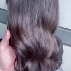 グレージュ 大人ヘアスタイル ラベンダーグレージュ 韓国ヘア ヘアスタイルや髪型の写真・画像