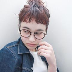 ショート ストリート 簡単ヘアアレンジ ボブ ヘアスタイルや髪型の写真・画像