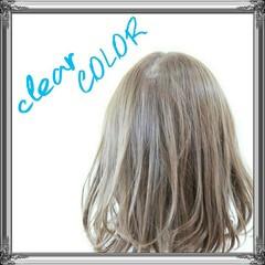 ボブ 透明感 ナチュラル アッシュ ヘアスタイルや髪型の写真・画像