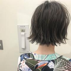ハイライト ナチュラル ボブ ショート ヘアスタイルや髪型の写真・画像