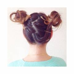 ヘアアレンジ 簡単ヘアアレンジ かわいい ショート ヘアスタイルや髪型の写真・画像