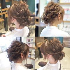 結婚式 シニヨン ゆるふわ ロング ヘアスタイルや髪型の写真・画像