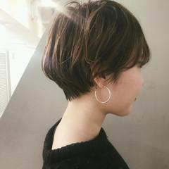 ショートボブ ナチュラル ブリーチ ショート ヘアスタイルや髪型の写真・画像