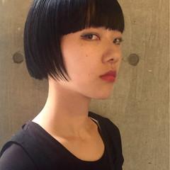 大人かわいい 暗髪 ショート 外国人風 ヘアスタイルや髪型の写真・画像