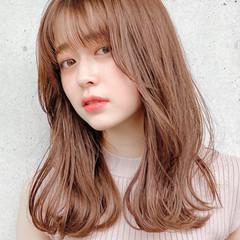 デジタルパーマ ミディアム デート アンニュイほつれヘア ヘアスタイルや髪型の写真・画像