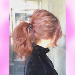 簡単ヘアアレンジ ゆるふわ ガーリー ヘアアレンジ ヘアスタイルや髪型の写真・画像