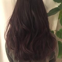 暗髪 ロング ストリート ベリーピンク ヘアスタイルや髪型の写真・画像