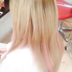 ミディアム ガーリー ピンク ゆるふわ ヘアスタイルや髪型の写真・画像