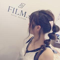 ミディアム 簡単ヘアアレンジ 夏 ガーリー ヘアスタイルや髪型の写真・画像