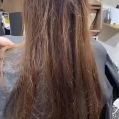 ロング 最新トリートメント フェミニン 縮毛矯正 ヘアスタイルや髪型の写真・画像