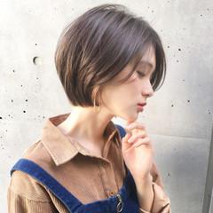 ナチュラル オフィス デート ショート ヘアスタイルや髪型の写真・画像