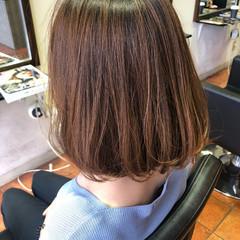 ボブ 色気 ワンカール ナチュラル ヘアスタイルや髪型の写真・画像