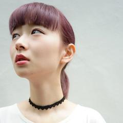 ショート レッド 外国人風 前髪あり ヘアスタイルや髪型の写真・画像