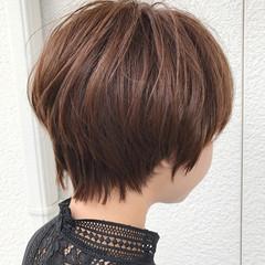 ナチュラル ショートバング 似合わせ ショート ヘアスタイルや髪型の写真・画像