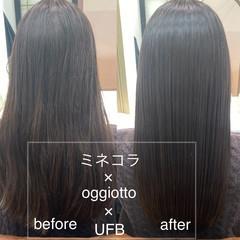 ロング ナチュラル 髪質改善トリートメント サラサラ ヘアスタイルや髪型の写真・画像