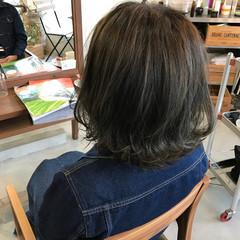 ボブ 色気 ハイライト グレージュ ヘアスタイルや髪型の写真・画像