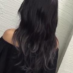ストリート セミロング グラデーションカラー アッシュ ヘアスタイルや髪型の写真・画像