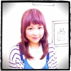 モード 黒髪 レッド ピンク ヘアスタイルや髪型の写真・画像