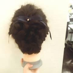 編み込み まとめ髪 ヘアアレンジ ロング ヘアスタイルや髪型の写真・画像
