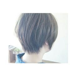 アッシュ 外国人風 ショート 大人かわいい ヘアスタイルや髪型の写真・画像