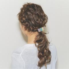 波ウェーブ ヘアアレンジ 愛され モテ髪 ヘアスタイルや髪型の写真・画像